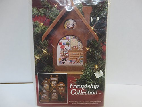 Friendship Collection Santa Claus Cross Stitch Pattern and Mini Sculpture ()