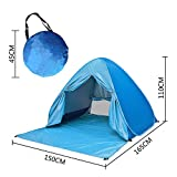 Chukchi Outdoor Automatic Pop Up Beach Tent, Portable Cabin Camping Tent Sun Shelter for 2-3 Person