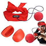 ROKOO Boxing Reflex Ball with Headband Boxing Gloves Hand Eye Coordination for Boxing Indoor Training Improve Concentration Reactions and Speed