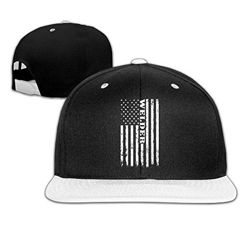 cc59c11de49a AJHGD American Welder - Proud Welding Unisex Hip-Hop Flat Brim Snapback Hats  Plain Cotton