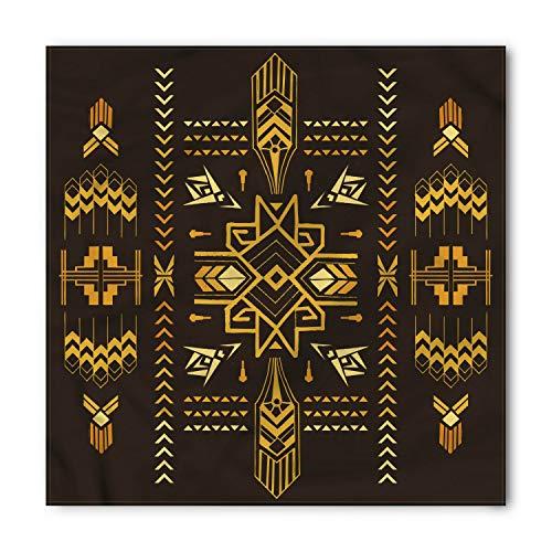 Ambesonne Unisex Bandana, Geometric Tribal Vintage Aztec, White and Black]()