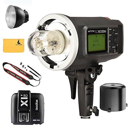 Godox Witstro AD600BM AD sync 1 / 8000s 2.4G wireless Flash Light Speedlite+Godox X1T-C TTL Wireless Transmitter for Canon EOS series cameras(AD600BM+X1T-C) by Godox