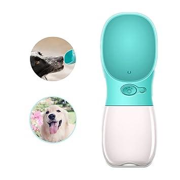 Bebedero Botella Portátil Plástico para Perros Mascota Paseo for Outdoor Running Walking Travelling Antibacterial (azul