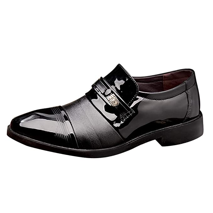 63b781ef178 Amazon.com: Business Leather Shoes for Men,Slip on Patent Leather ...