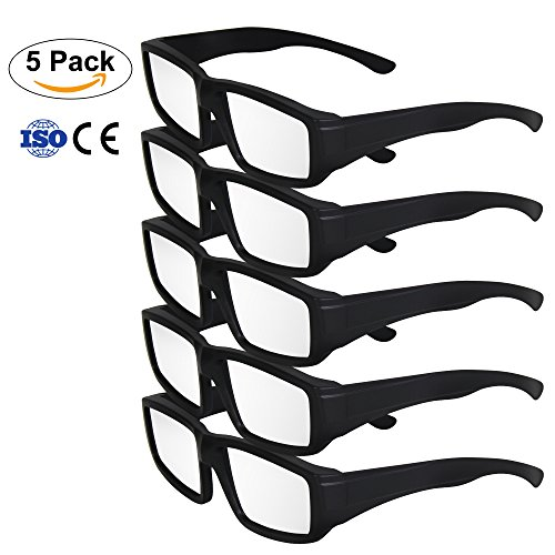 BOBOO Solar Eclipse Glasses- CE and ISO Certified Safe Plastic Eclipse Viewing Glasses for Total Solar Eclipse 2017