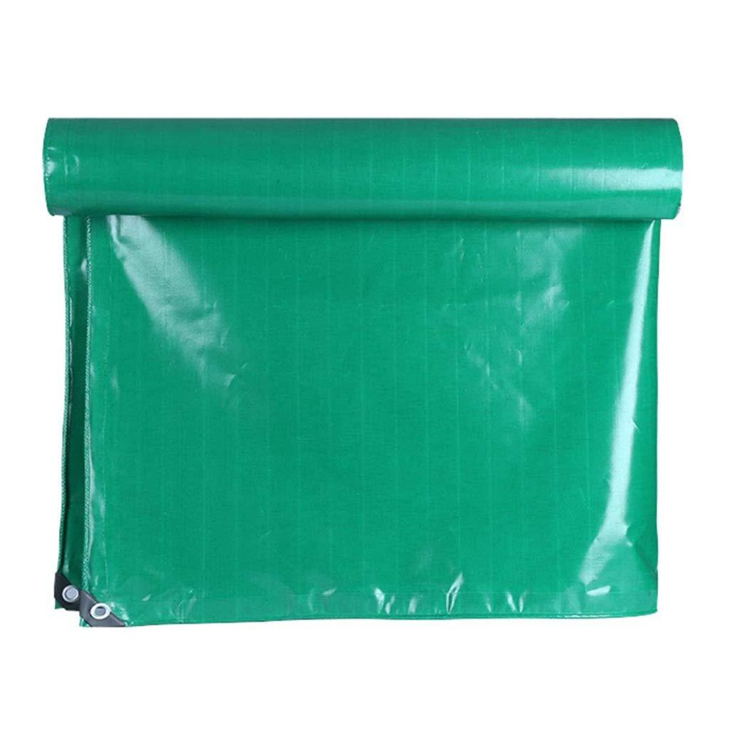 ターポリン アイレット付き屋外用防水ターポリン防水シート防水シートクロスシェードオーニングシェード、350g /m²、グリーン (サイズ さいず : 8mx10m) B07SCY6CG9  8mx10m