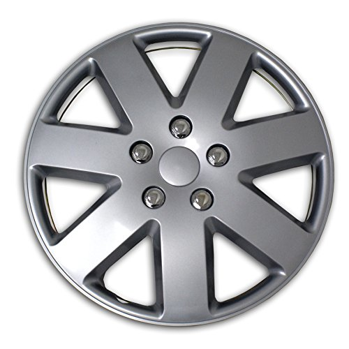TuningPros WSC2-058S16 Hubcaps Wheel Skin Cover Type 2 16-Inches Silver Set of 4 (Hubcaps 2007 Nissan Altima compare prices)