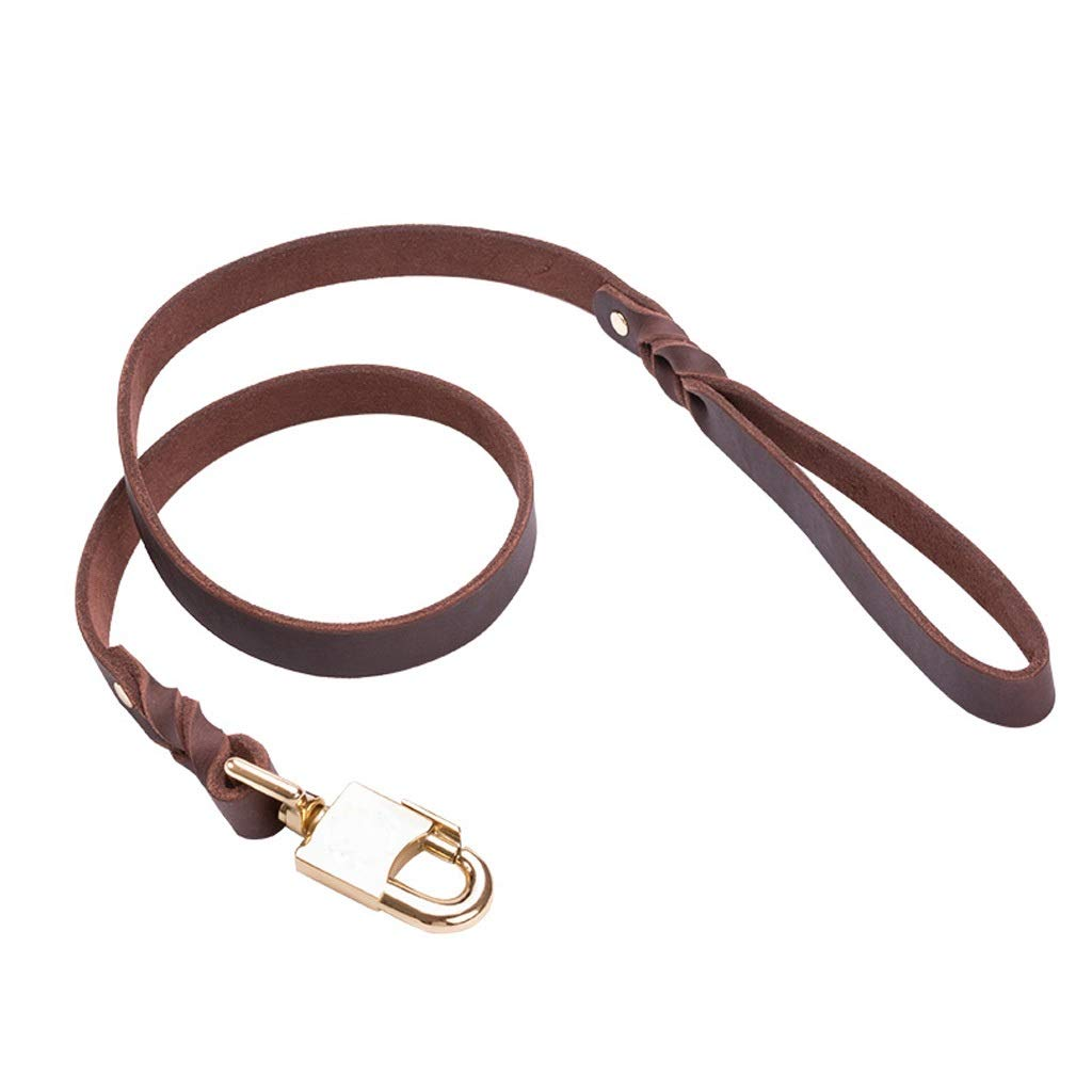 2.0110cm JIANXIN Dog Leash, Cowhide Traction Dog Chain, Suitable for Small and Medium Dogs, 2 Sizes (Size   2.0  110cm)
