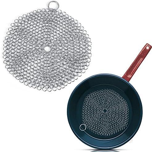 Grille à récurer Pot grattoir en Acier Inoxydable Casserole Casserole ustensiles de Cuisine antirouille
