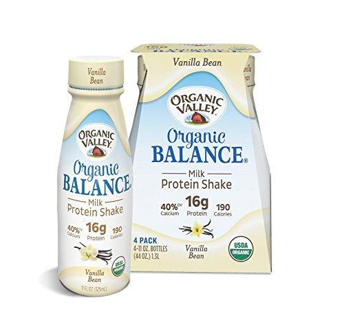 Organic Valley Balance, Organic Milk Protein Shake, Vanilla Bean, 11 oz (Pack of 4)