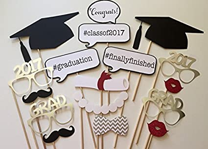 amazon com losuya 2017 graduation photo props photobooth party