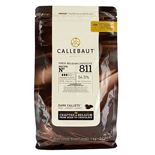 Callebaut Recipe No. 811 Finest Belgian Dark Chocolate with 54.5-Percent Cacao, 2.20 Pound - 811 Cocoa