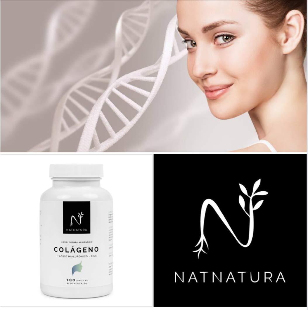 Colágeno hidrolizado. Colágeno con ácido hialurónico + Vitamina C + Zinc. Nº1 en Colágeno. Piel sana, articulaciones fuertes. 100 cápsulas con ingredientes ...