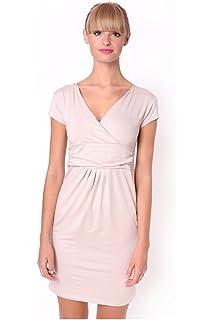 8415 XS S M L XL XXL 3XL Mini-Kleid V-Ausschnitt Tunika Top in 6 Farben Gr