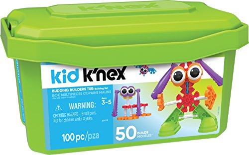 Set 3 Piece Builder - Kid K'NEX - Budding Builders Building Set - 100 Pieces - Ages 3 and Up - Preschool Educational Toy