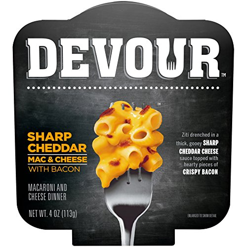 Devour Sharp Cheddar Mac & Cheese with Bacon, 4 Ounce