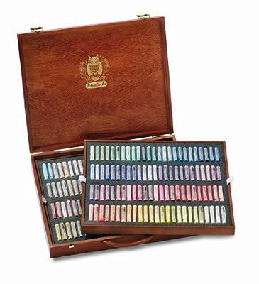 """SCHMINCKE Finest Extra-Soft Artist Pastels, Set of 200"""" A Wood Box (77200097)"""