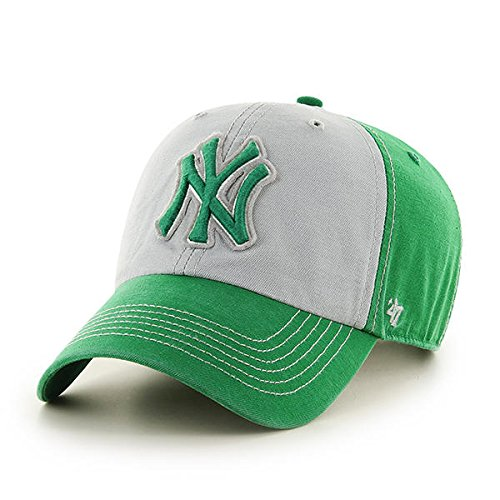 '47 New York Yankees MLB Brand Kelly Green Clean Up Hat Cap St Patrick's Day McGraw Men's Adjustable