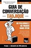 capa de Guia de Conversacao Portugues-Tadjique E Mini Dicionario 250 Palavras
