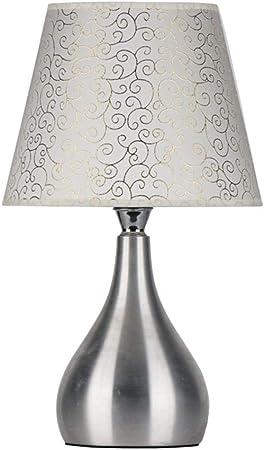 &Luz para Leer Lámpara de Escritorio Lámparas de Mesa Modernas Sala de Estar Decoración Dormitorio Mesita de Noche Tela de Tela Sombra Decoración Lámpara de Noche: Amazon.es: Hogar