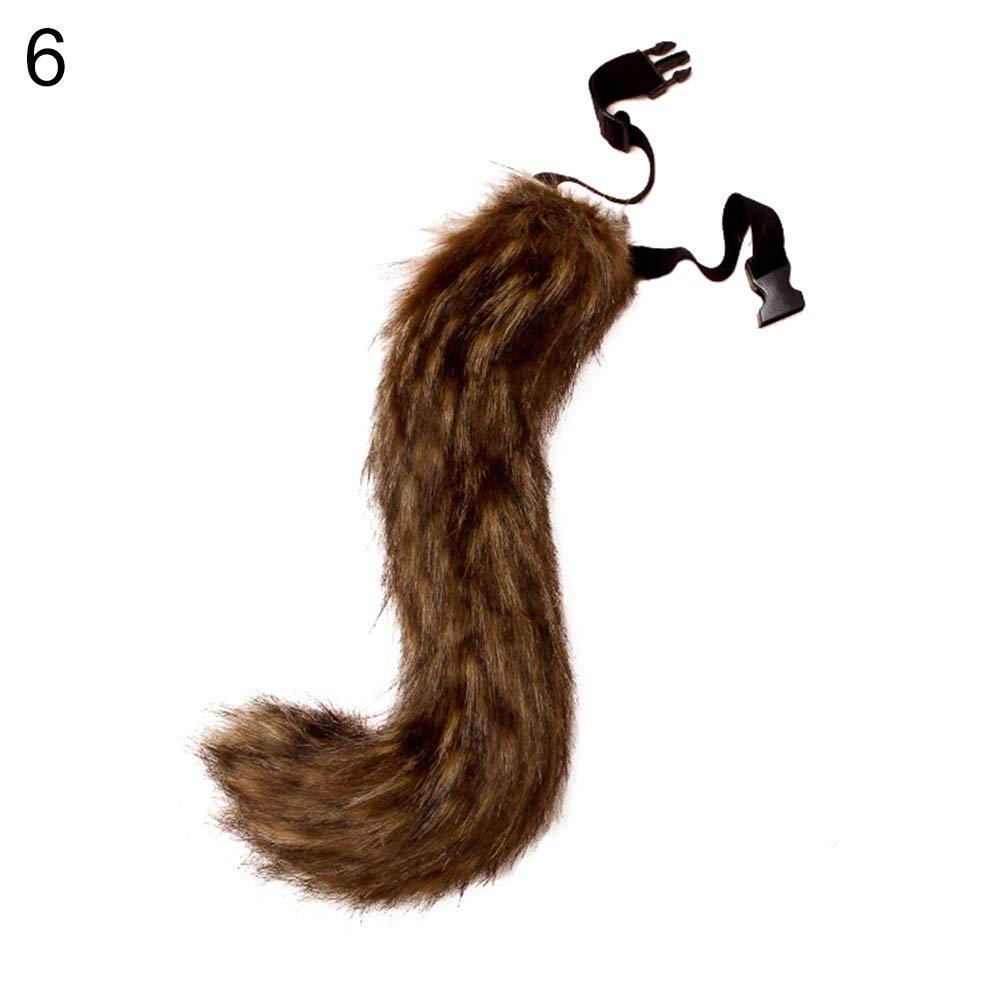 dontdo Fausse Fourrure Queue Cosplay Costume de f/ête Super /énorme Fluffy Tail pour Teen Adulte #2