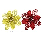 Boao-10-Pieces-Christmas-Glitter-Poinsettia-Flowers-Christmas-Tree-Decorations-Xmas-Artificial-Flower-Decoration-for-Christmas-Wedding-Festive-Party-Favor-Style-1
