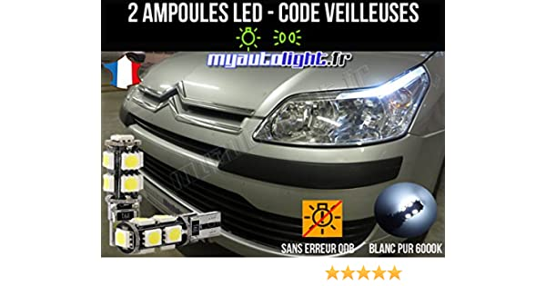 Pack faros LED de color blanco xenón para CITROEN C4: Amazon.es: Coche y moto
