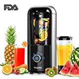 Vacuum Blender, Aigerek Smoothie Blender, Professional High-Speed Drink Mixer and Ice Crusher, Antioxidation Function for Ice Fruits Vegetables Smoothies & Shakes with Recipe Book, 1ps Vacuum Cup
