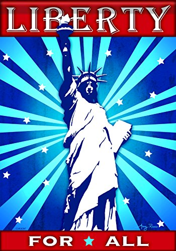 Carson Home Accents FlagTrends Classic Garden Flag, Lady Liberty (Liberty Lady Flag)