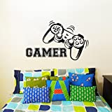 Wall Decals Game Controllers Gamer Gamepad Joystick Gaming Video Game Kids Children Nursery Boys Room Bathroom Vinyl Sticker Wall Decor Murals Wall Decal by DecorimDecorWallDecal