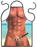 Rabi Delantal de cocina divertido Sexy para hombre, para cocinar, barbacoa, hornear y asar delantales para fiestas, disfraces, el mejor regalo para novio
