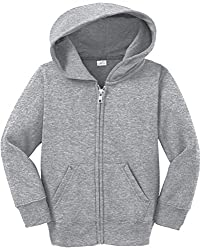 Toddler Full Zip Hoodies - Soft and Cozy Hooded Sweatshirts, 2T Athletic Heather