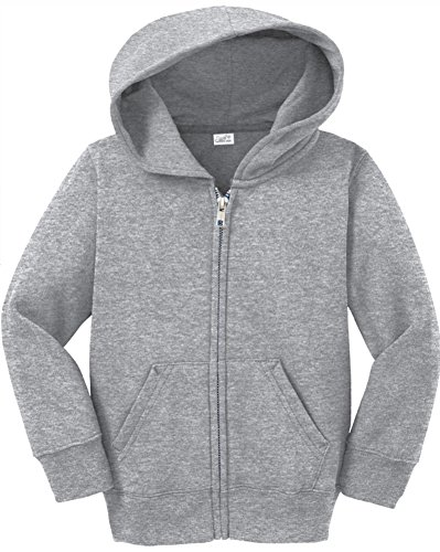 Joe's USA Infant Full Zip Hoodies - Soft and Cozy Hooded Sweatshirts,Athletic Heather,6M