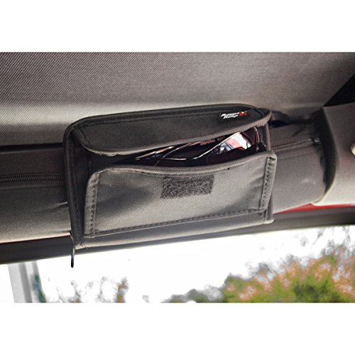 Rugged Ridge 12101.52 3-Inch Black Roll Bar Sunglass Holder