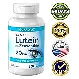 Lutein and Zeaxanthin 20mg | 300 Softgels | Eye