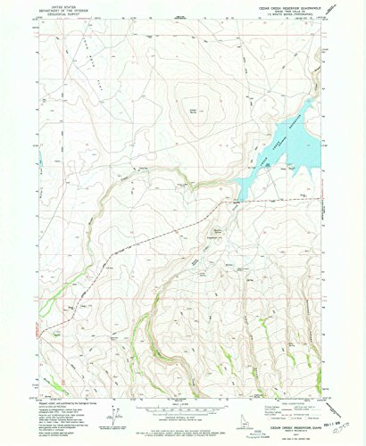 YellowMaps Cedar Creek Reservoir ID topo map, 1:24000 Scale, 7.5 X 7.5 Minute, Historical, 1977, Updated 1978, 26.8 x 22 in - Paper