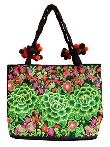 Ariyas Thaishop, Borsa a tracolla donna multicolore multicolore