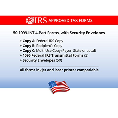 Amazon 1099 Int Tax Forms For 2017 4 Part Form Sets For 5