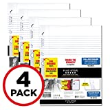 "Five Star Loose Leaf Paper, 3 Hole Punched, Reinforced Filler Paper, College Ruled, 11"" x 8-1/2"", 100 Sheets/Pack, 4 Pack (38032)"