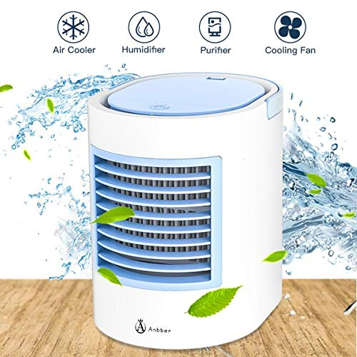 Portable Air Conditioner, Portable air Cooler, Quick & Easy Way to Cool Personal Space, As Seen On TV, Suitable for Bedside, Office and Study Room, Three Level, USB Drive