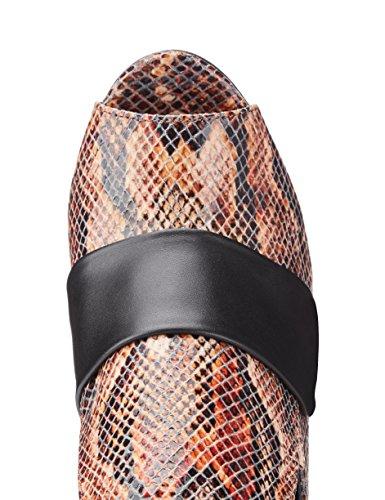 FIND Zuecos de Piel con Tacón para Mujer Varios Colores (Print)