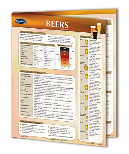 Beers Guide- Food and Drink Quick Reference Guide by Permacharts