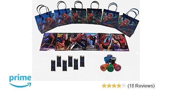Marvel Spider Man party favor set pack w/coloring book (42pcs)