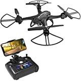 Holy Stone HS200D FPV RC Drone with Camera Live Video 720P HD 120° FOV RTF WiFi Quadcopter for Beginners and Kids RC Helicopter with Altitude Hold Headless Mode 3D Flips Modular Battery Color Black