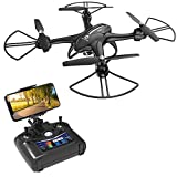 Cheap Holy Stone HS200D FPV RC Drone with 720P Camera 120°FOV Live Video WiFi Quadcopter for Beginners and Kids RTF RC Helicopter with Altitude Hold 3D Flips Color Black