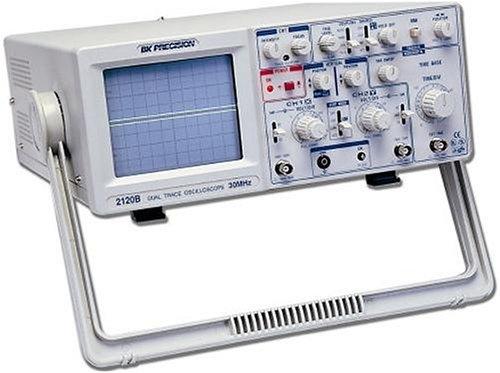 Dual Trace Oscilloscope (B+K Precision 2120B 20 MHz Dual-Trace Oscilloscope w/Probes)