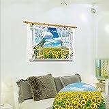 3D sunflower Flower Field Wall Sticker Decal SK9020A. Art Decor Living Room Decoration