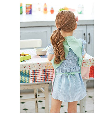 Hosim Kids Painting Apron Waterproof Sleeveless Art Smock, Children Art Craft Aprons Bib with Cute Big Pocket For Artist Painting/Handwork/Eating by Hosim (Image #2)