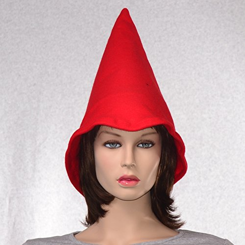 [Bright Red Gnome Hat Oversized Fleece] (Gnome Hat)