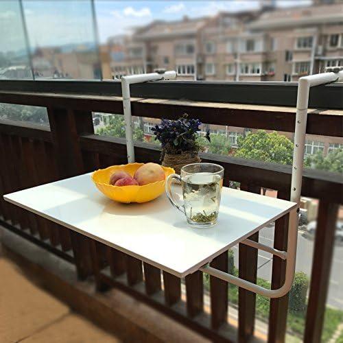 Koovin Mesa Plegable para Balcón Al Aire Libre, Mesa Colgante para ...